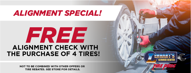FREE Alignment w/Purchase of 4 Tires!